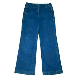 HERITAGE High Waisted Wide Leg Blue Jeans
